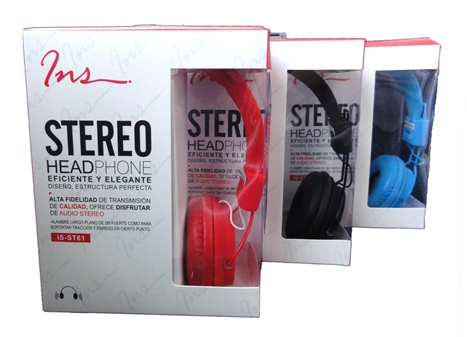 Cod.018 Headphone Stereo Ins IS-ST61/2mts cable